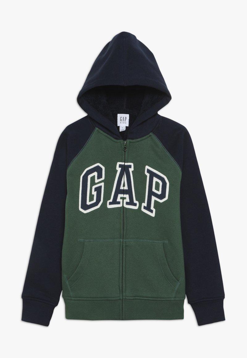 GAP - BOY COZY ARCH HOOD - Zip-up hoodie - green gables