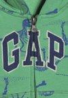GAP - TODDLER BOY NOVELTY LOGO - Mikina na zip - lush green