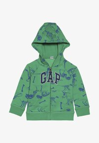 GAP - TODDLER BOY NOVELTY LOGO - Mikina na zip - lush green