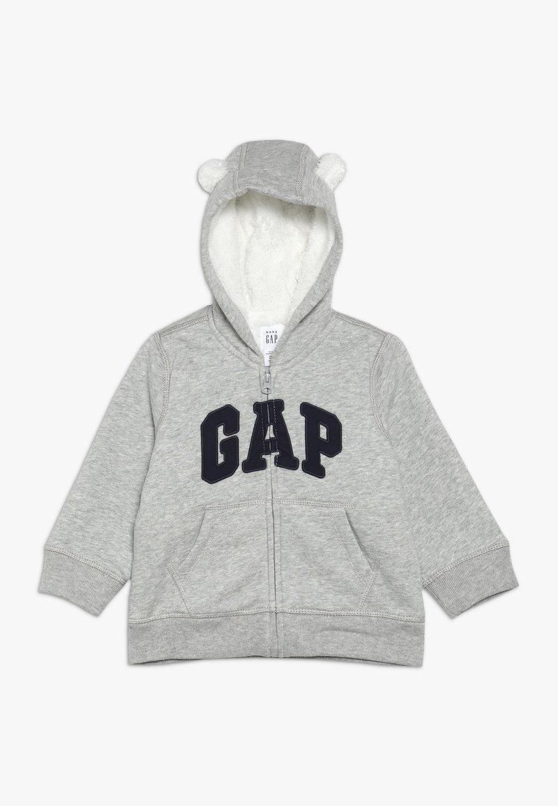 GAP - COZY ARCH BABY - Hoodie met rits - light heather grey
