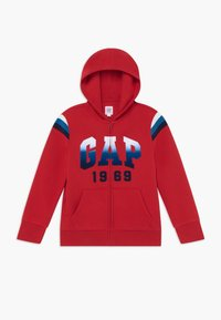 GAP - BOY  HOOD - Felpa aperta - modern red - 0