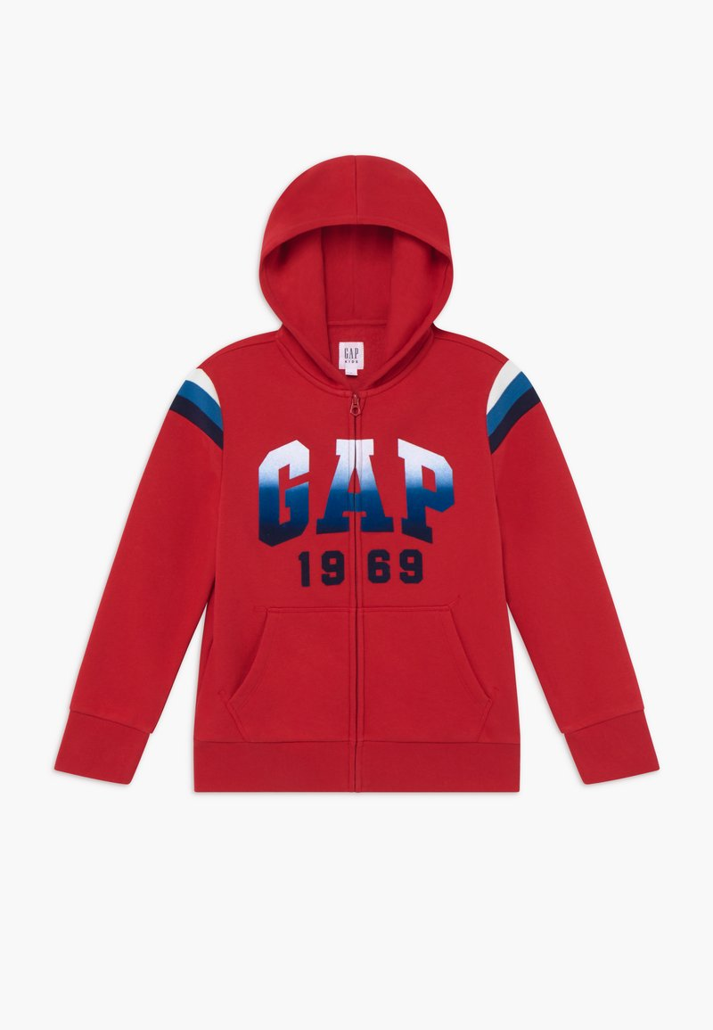 GAP - BOY  HOOD - Felpa aperta - modern red