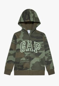 GAP - BOY ARCH CAMO - Hoodie met rits - green - 0