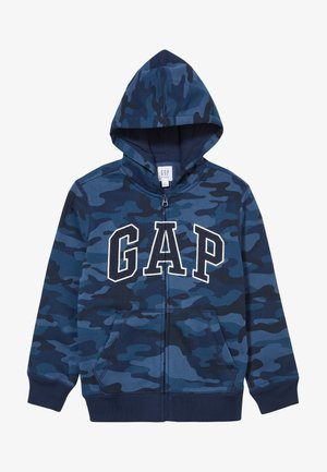 BOY V-GAP HOOD - Zip-up hoodie - blue