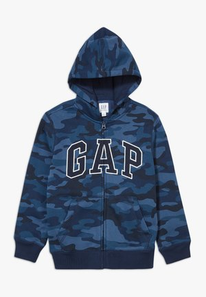 BOY V-GAP HOOD - veste en sweat zippée - blue