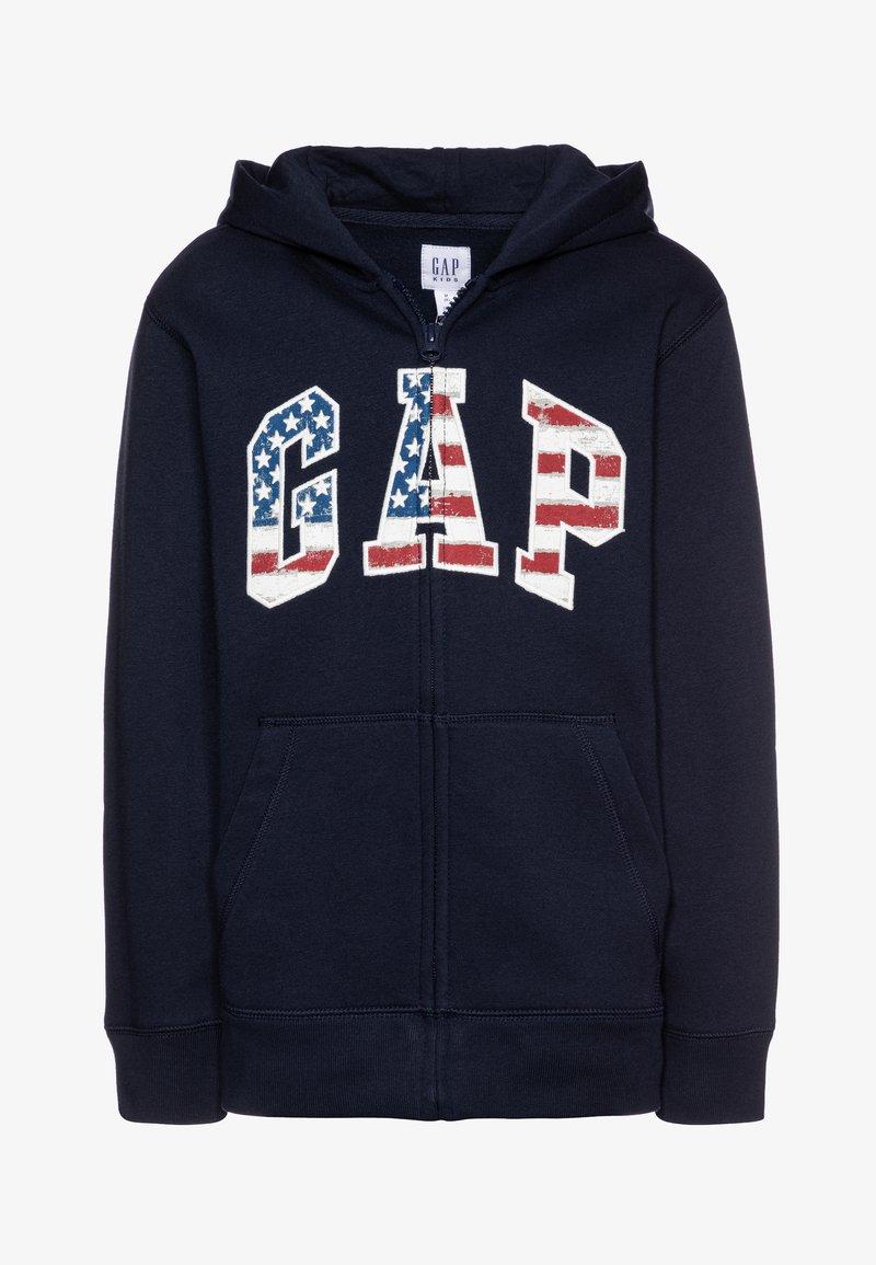 GAP - BOY NEW AMERICANA LOGO HOOD - Zip-up hoodie - blue galaxy