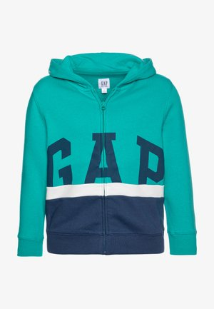 BOY LOGO - veste en sweat zippée - green mirage