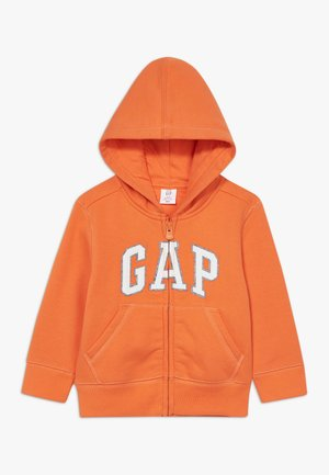 TODDLER BOY LOGO  - Mikina na zip - sport orange