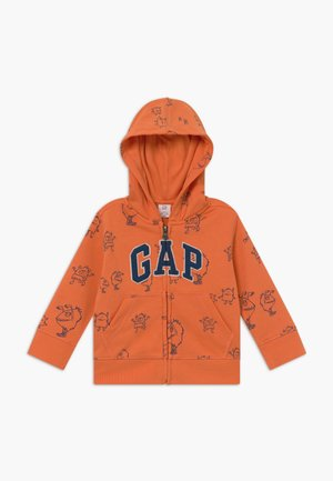 TODDLER BOY NOVELTY LOGO - Bluza rozpinana - neon dark orange