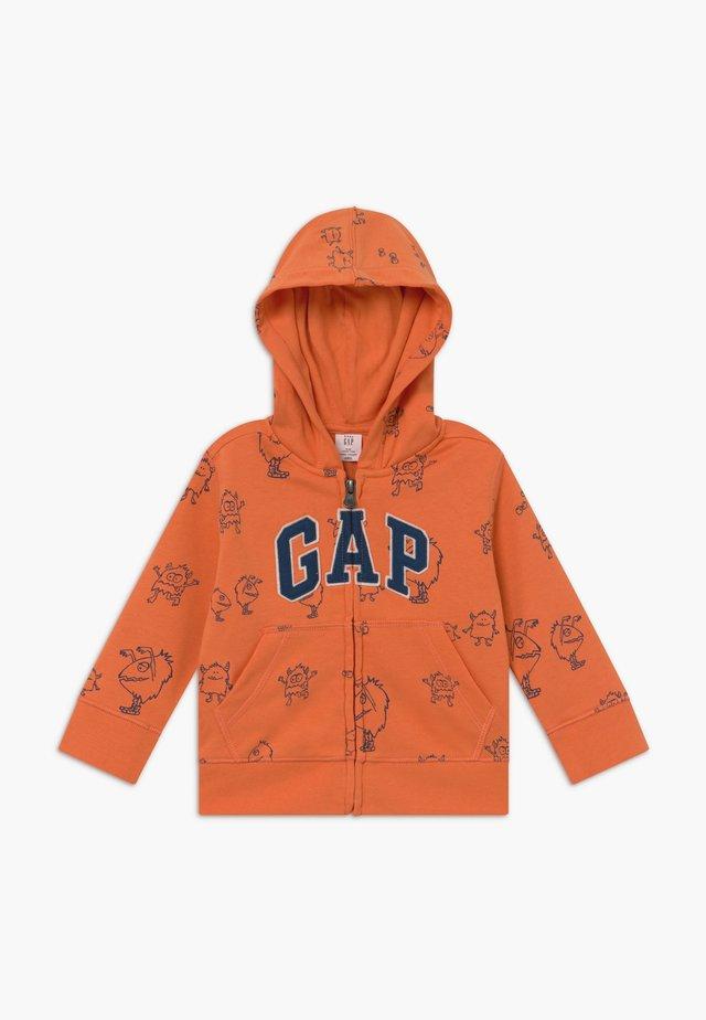 TODDLER BOY NOVELTY LOGO - Zip-up hoodie - neon dark orange