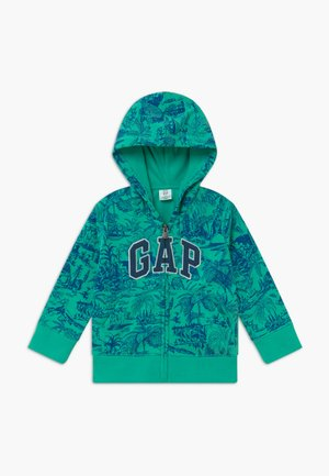 TODDLER BOY NOVELTY LOGO - veste en sweat zippée - siren green