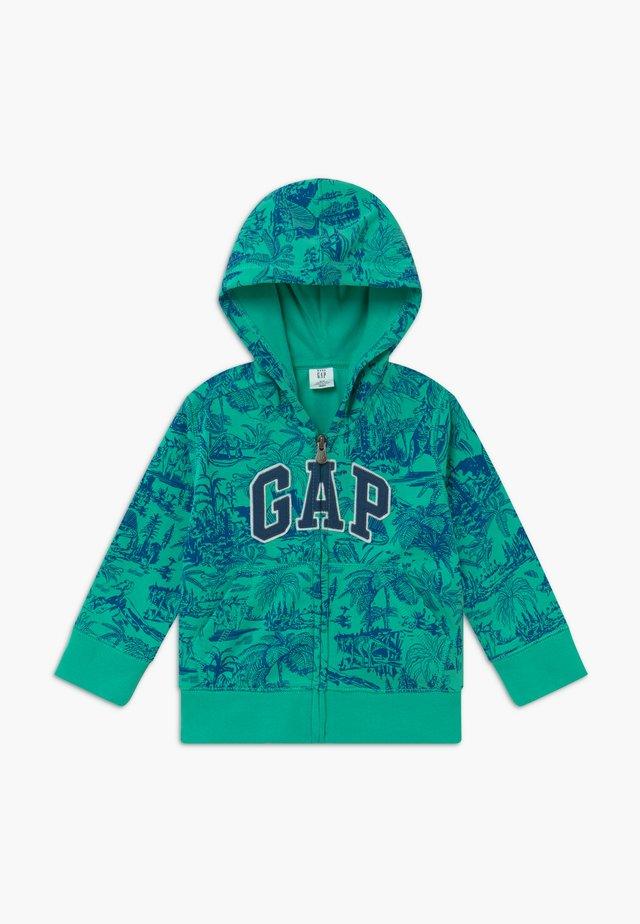 TODDLER BOY NOVELTY LOGO - Zip-up hoodie - siren green