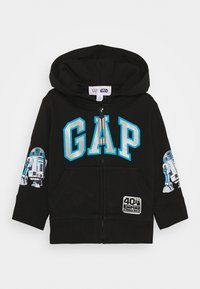 GAP - TODDLER BOY - Hoodie met rits - true black - 0