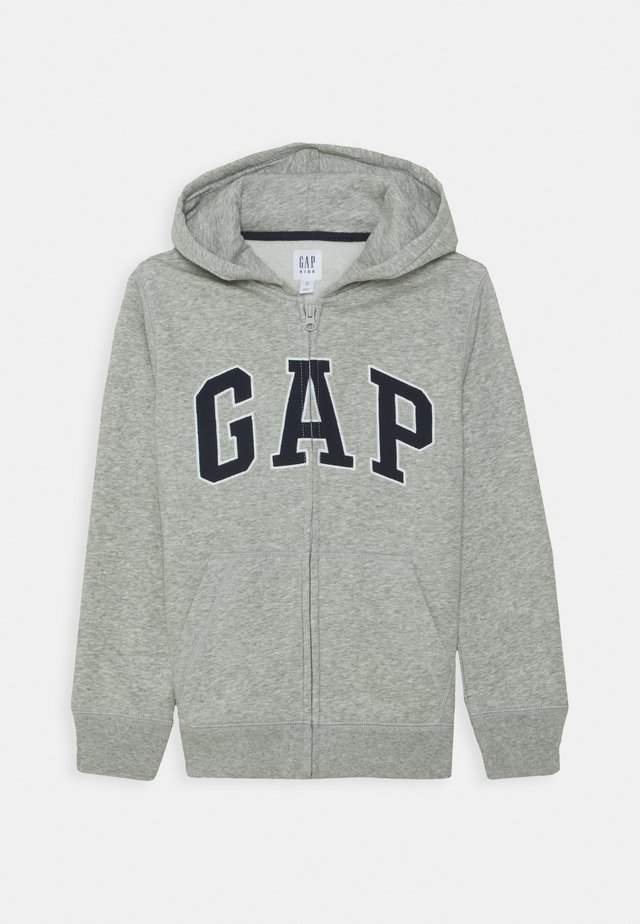BOY NEW ARCH HOOD - Huvtröja med dragkedja - light heather grey