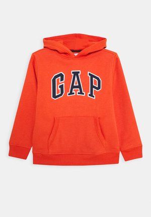BOY FASH LOGO HOOD - Sweat à capuche - flare orange