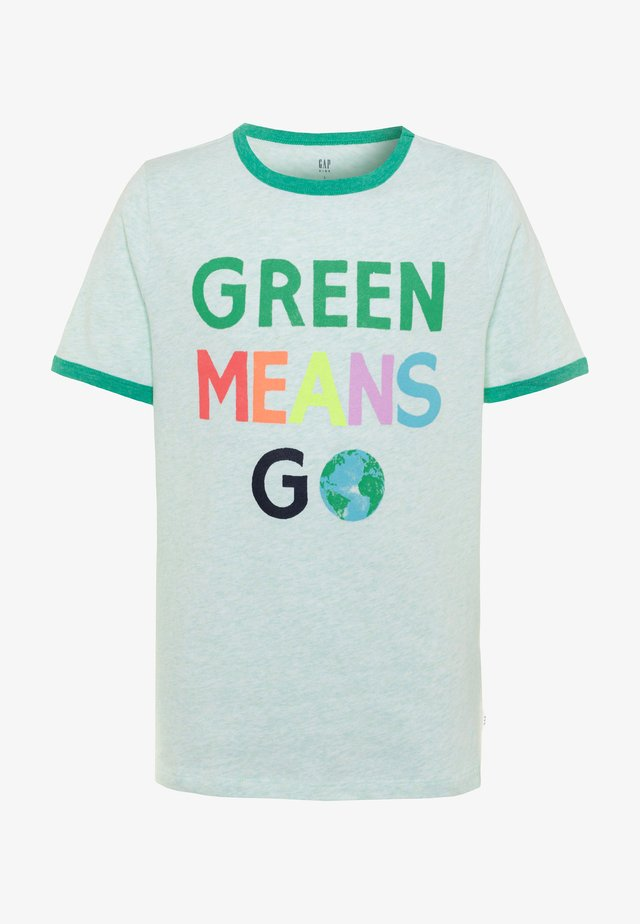 BOY EARTH DAY - T-shirt print - extremely green heather