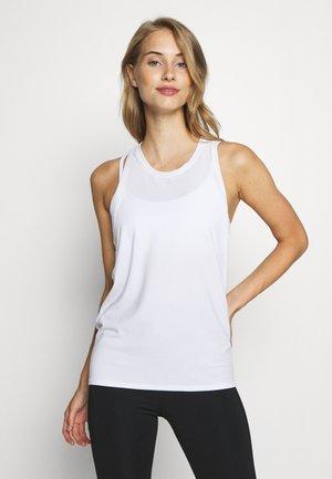 TIE BACK TANK NON HOT - Sports shirt - optic white