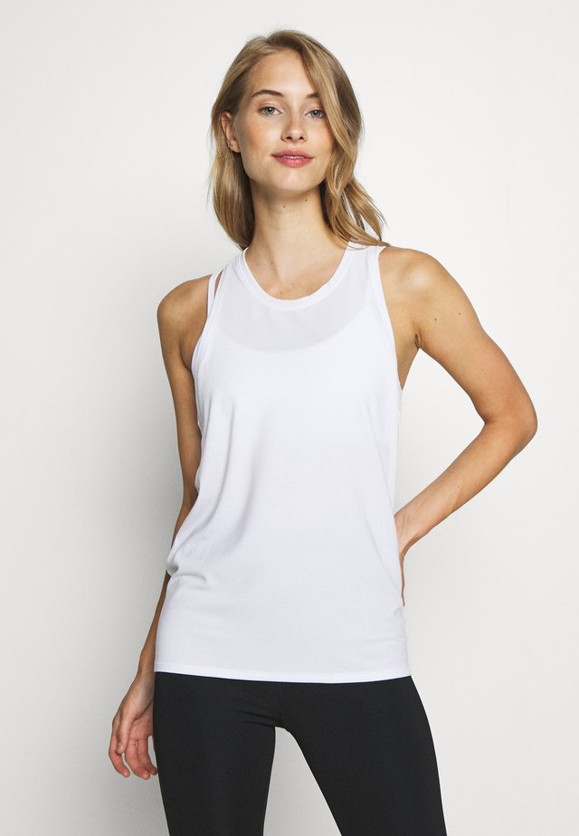 TIE BACK TANK NON HOT - Sports shirt - optic white