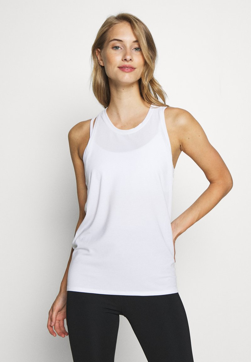 GAP - TIE BACK TANK NON HOT - Sports shirt - optic white