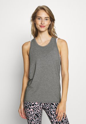 TIE BACK TANK NON HOT - Sports shirt - heather grey