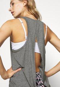 GAP - TIE BACK TANK NON HOT - Sports shirt - heather grey - 3