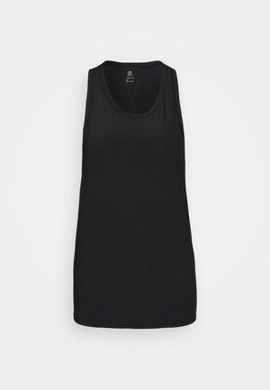 TIE BACK TANK NON HOT - Sports shirt - true black