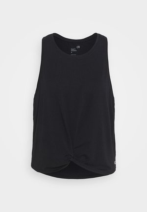 SLEEVELESS TWIST FRONT  - Sports shirt - true black