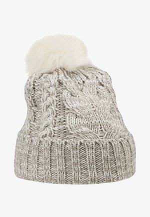 GIRL CABLE HAT - Pipo - grey heather