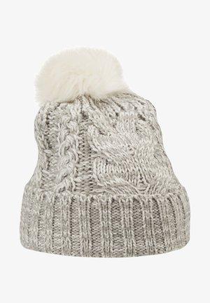 GIRL CABLE HAT - Čepice - grey heather