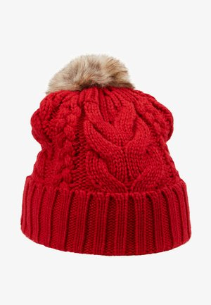GIRL CABLE HAT - Čepice - modern red