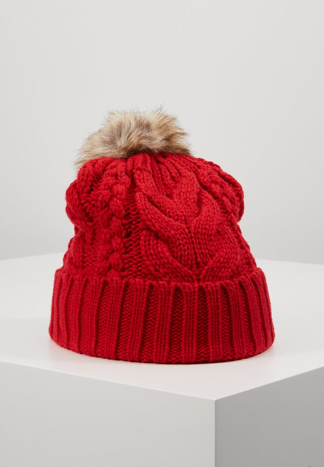 GIRL CABLE HAT - Bonnet - modern red