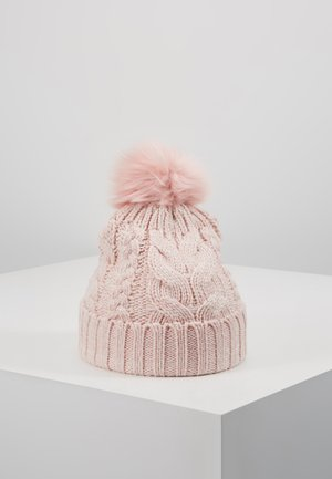 GIRL CABLE HAT - Gorro - pink standard