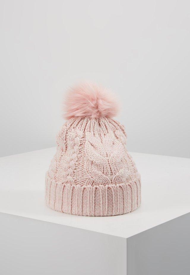 GIRL CABLE HAT - Bonnet - pink standard