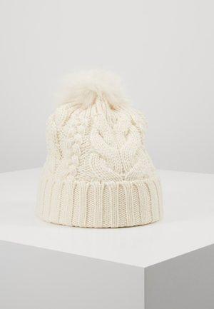 GIRL CABLE HAT - Čepice - ivory frost
