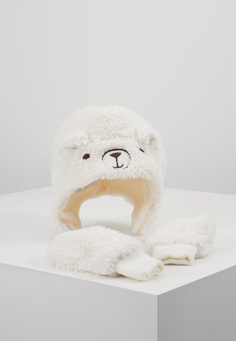 GAP - TODDLER GIRL BEAR SET - Gorro - ivory frost