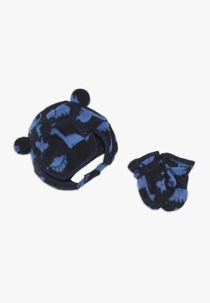 HAT MITT BABY SET - Bonnet - navy