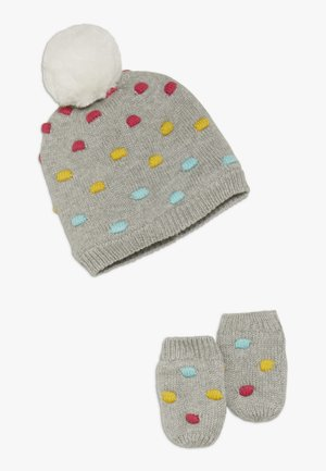 HAT MITT BABY SET - Huer - grey heather