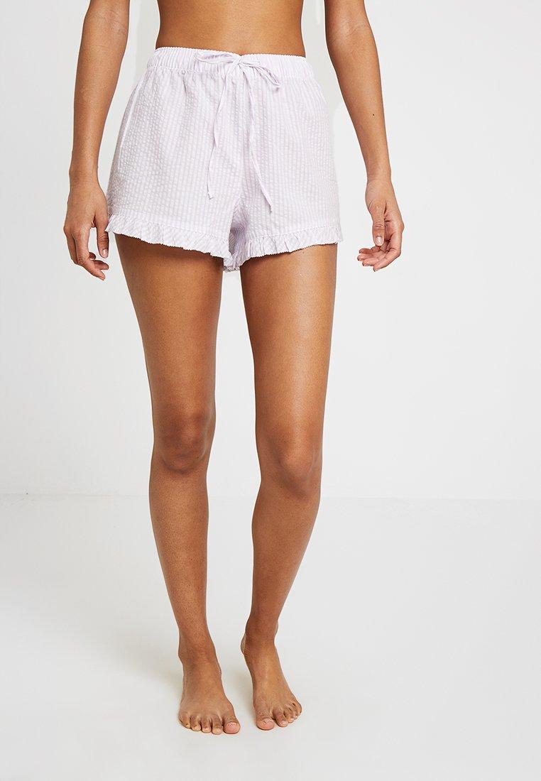 GAP - POPLIN RUFFLE SHORT - Pyjama bottoms - purple
