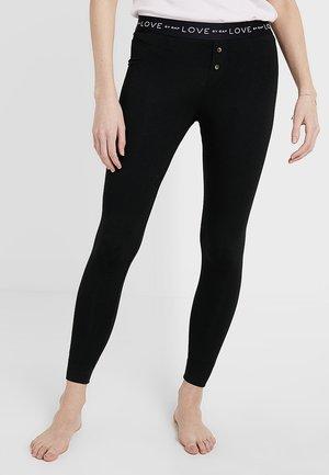 LOGO LEGGING - Spodnie od piżamy - true black