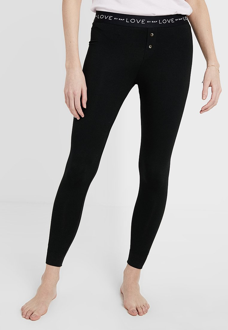 GAP - LOGO LEGGING - Pyjama bottoms - true black