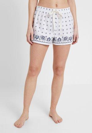 POPLIN PRINT SHORT - Pyžamový spodní díl - offwhite/black