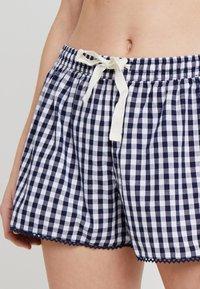 GAP - POPLIN SHORT TRIM - Pantaloni del pigiama - gingham military blue - 4