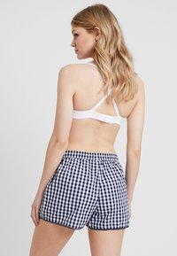 GAP - POPLIN SHORT TRIM - Pantaloni del pigiama - gingham military blue - 2