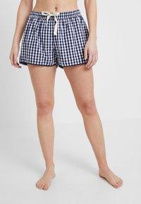 GAP - POPLIN SHORT TRIM - Pantaloni del pigiama - gingham military blue - 0