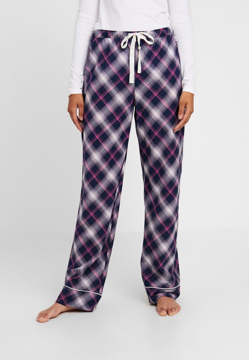 GAP - LONG BOTTOM - Nattøj bukser - navy pink
