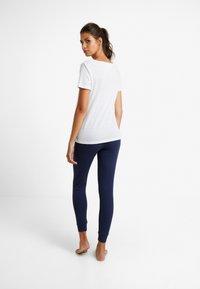GAP - LOGO - Spodnie od piżamy - military blue - 2