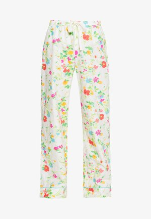 POPLIN PANT - Pyjamasbukse - white/green/red