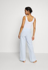 GAP - POPLIN PANT - Pyjamasbukse - blue/white - 2