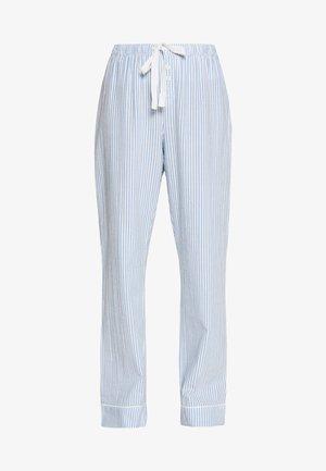POPLIN PANT - Pyjamasbyxor - blue/white
