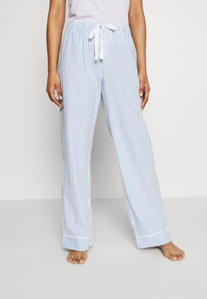 POPLIN PANT - Pyjama bottoms - blue/white